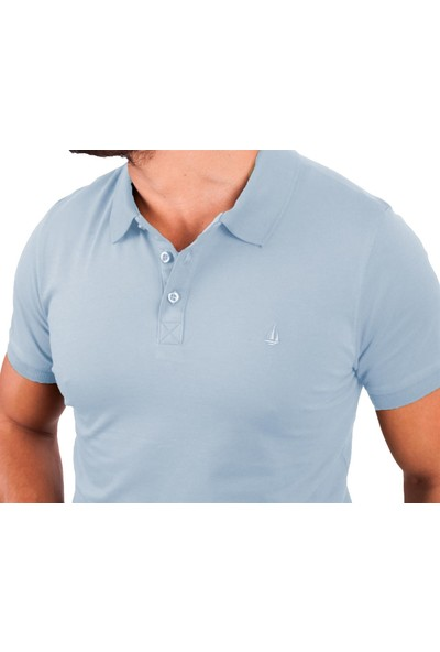 Blue Sail Mavi Renk Polo Yaka Erkek Tişört