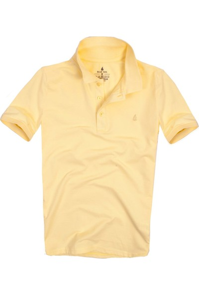 Blue Sail Sarı Renk Polo Yaka Erkek Tişört