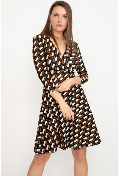 Allsenin Kruvaze Yaka Elbise