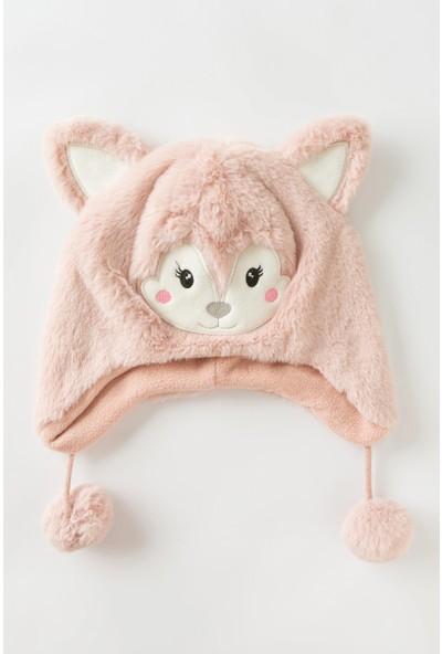 Penti Kız Çocuk Pink Mouse Bere