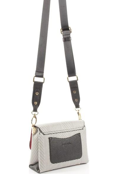 Silver & Polo Kadın Çapraz Çanta Siyah Beyaz 971