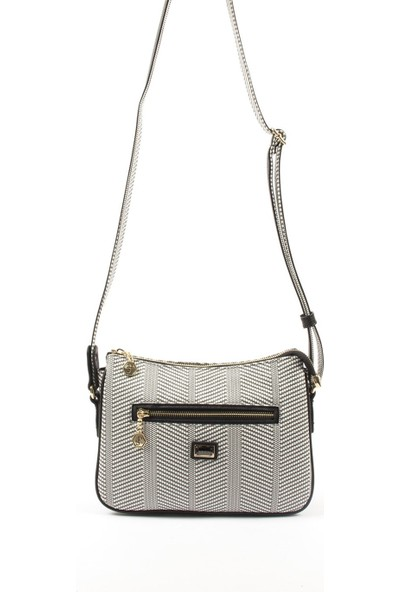 Silver & Polo Kadın Çapraz Çanta Siyah Beyaz 818