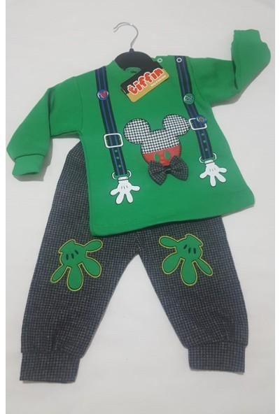 Tiffın Mickey Mouse Ikili Erkek Bebek Takım