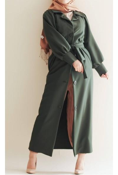 Sümeyra Küçükşahin Yeşil Verdant Ceket Ferace