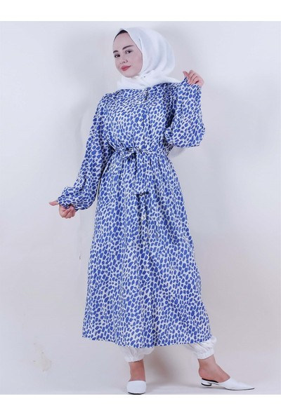 Sümeyra Küçükşahin Mavi Desenli Ceket