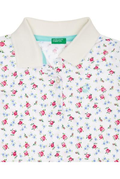 United Colors Of Benetton Kız Çocuk Kız Çocuk Logolu Desenli Polo T-Shirt
