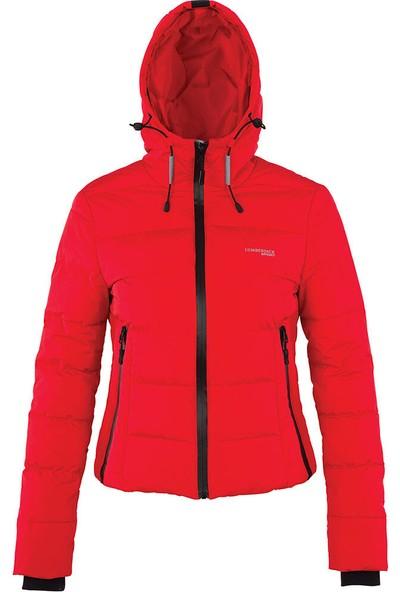 Lumberjack Apreskı Coat Kırmızı Kadın Kısa Kaban