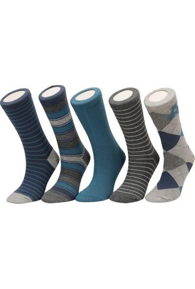I Cool Collage Bkl 5'li Skt-B Gri Multi Erkek Çocuk Soket Çorap