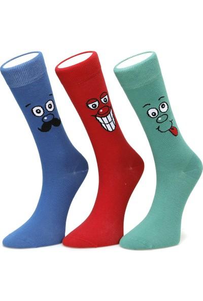 Lumberjack Smıley Kırmızı Çorap