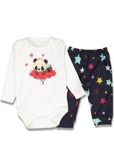 Baby Banny Yıldızlı Pandalı Erkek Bebek Pijama Takım