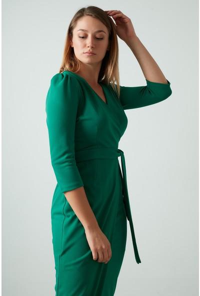 Ayhan Kuşaklı Kruvaze Elbise Kadın Elbise 04661246