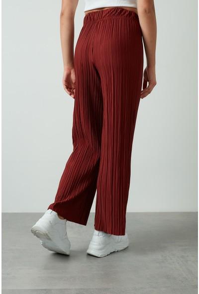 Only Onlmema Yüksek Bel Geniş Paça Pantolon Kadın Pantolon 15214376