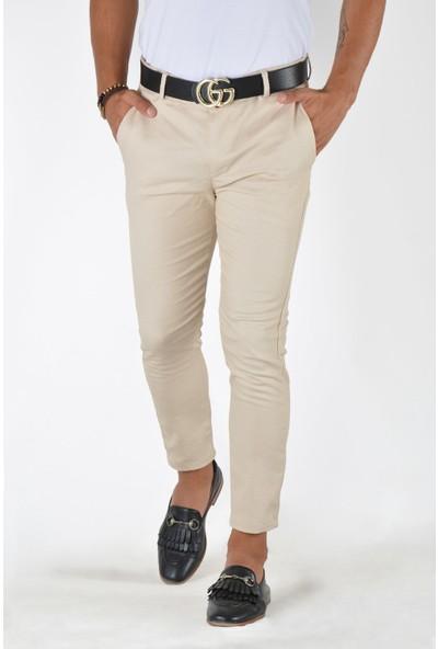 Terapi Men Erkek Slim Fit Keten Pantolon 20K-2200375 Krem