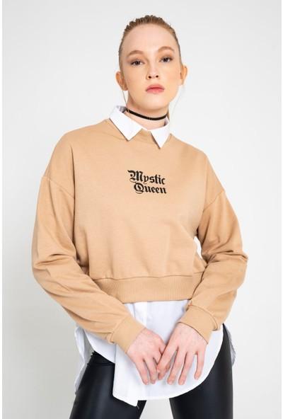 Loukai Flok Baskılı Sweatshirt
