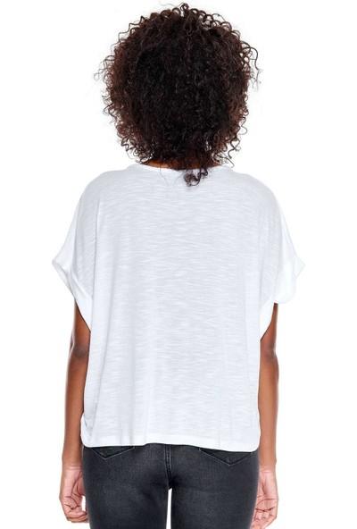 United Colors Of Benetton Yakası Örgülü Tshirt