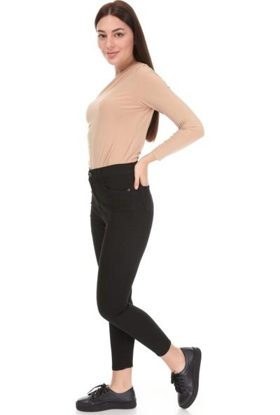 Avver Kadın Siyah Gabardin Pantolon