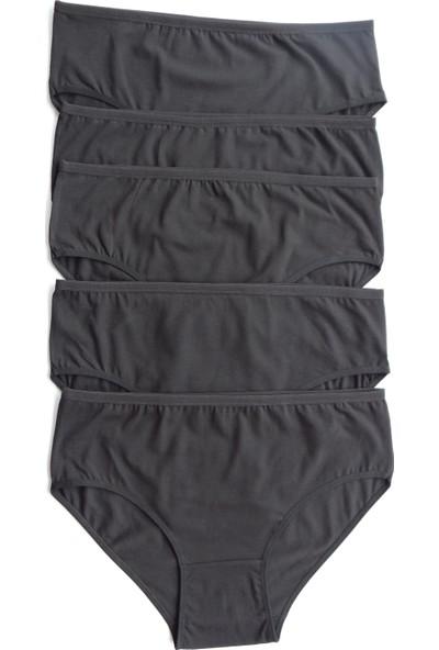 Familya Shop Kadın Siyah 5 Li Paket Likralı Bato Külot