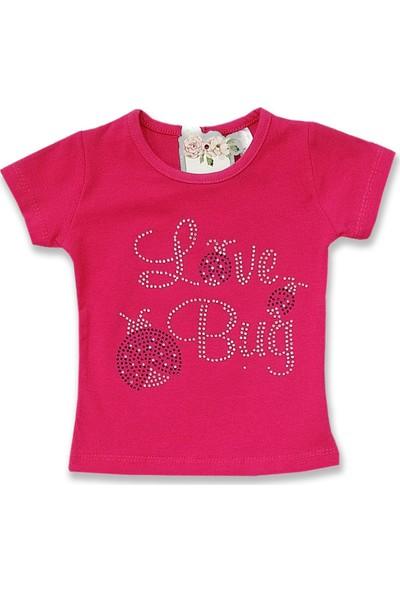 Difa Taşlı Uğur Böceği Kız Bebek Tişört