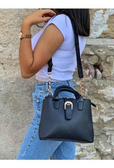 Emoş Çanta Siyah Kadın Çapraz Çanta
