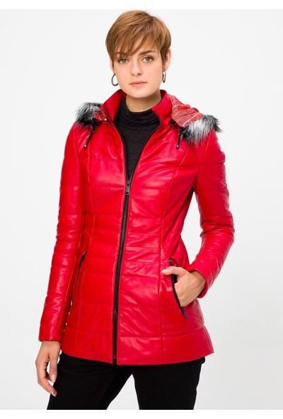 Deri Company Kadın Deri Mont Serena Kırmızı 211516