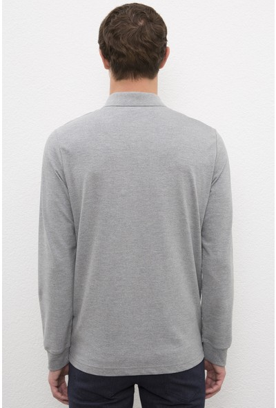 U.S. Polo Assn. Erkek Gri Sweatshirt Basic 50225335-VR086