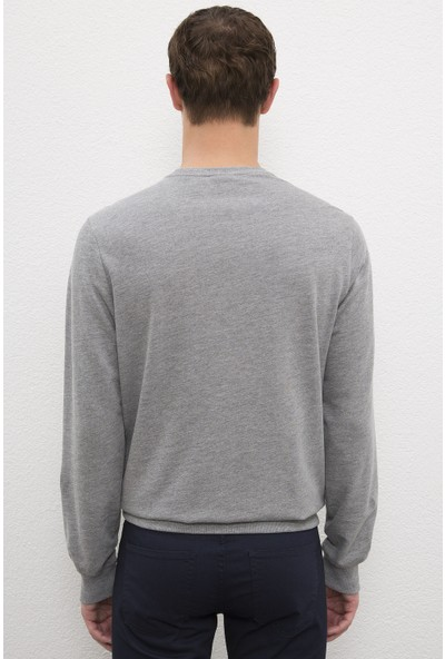 U.S. Polo Assn. Erkek Gri Sweatshirt Basic 50225478-VR086