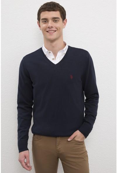 U.S. Polo Assn. Erkek Lacivert Triko Kazak Basic 50224729-VR033