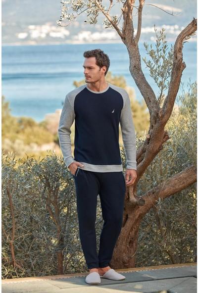 Nautica 042 Uzun Kol Erkek Pijamatakımı