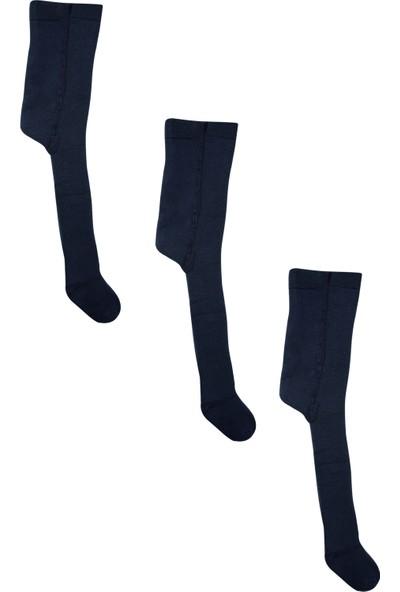 Olay 3'lü Lacivert Renk Kışlık Havlu Külotlu Bebek ve Çocuk Çorabı 7 - 9 Yaş