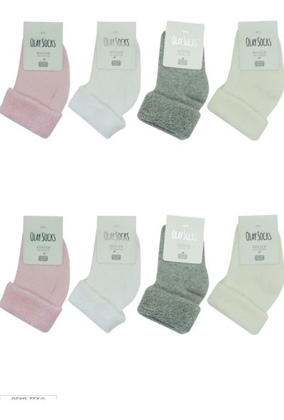 Olay 8'li Kışlık Kız Bebek Havlu Soket Çorap 11.01.0002_8 12 - 18 Ay
