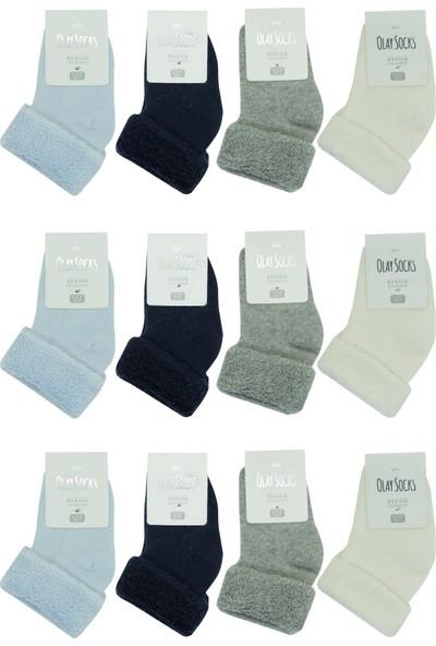 Olay 12'li Kışlık Erkek Bebek Havlu Soket Çorap 12.01.0001_12 12 - 18 Ay
