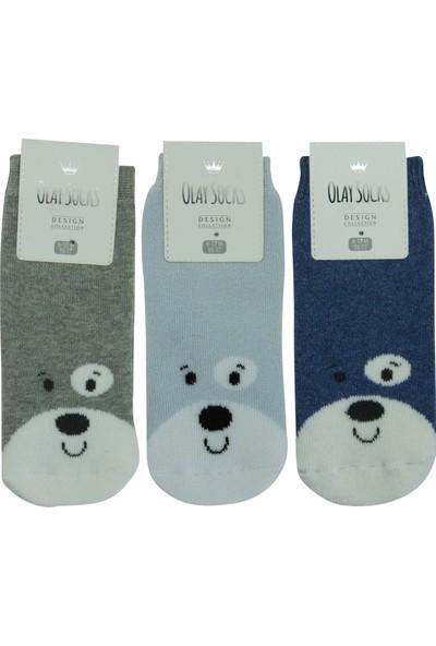 Olay 3'lü Kışlık Erkek Bebek Havlu Soket Çorap 6.01.0048_3 6 - 12 Ay