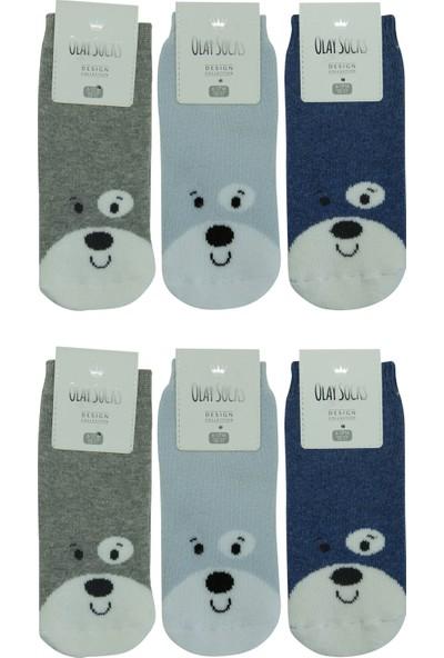 Olay 6'lı Kışlık Erkek Bebek Havlu Soket Çorap 6.01.0048_6 12 - 18 Ay