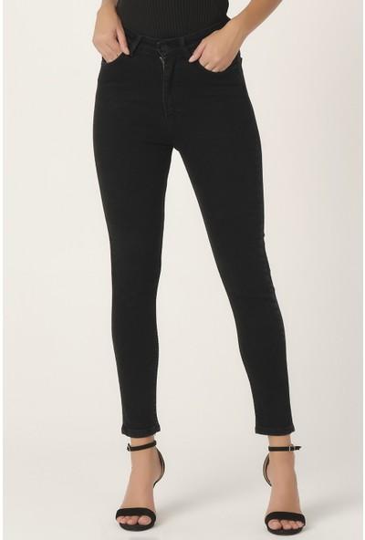Its Basic Kadın Siyah Renk Süper Yüksek Bel Slim Fit Jean