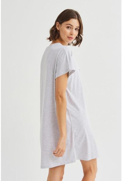 Penti Açık Gri Melanj Fierce Elbise