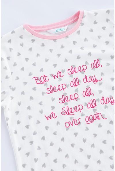 Penti Beyaz Teen Heart Termal 2'li Pijama Takımı