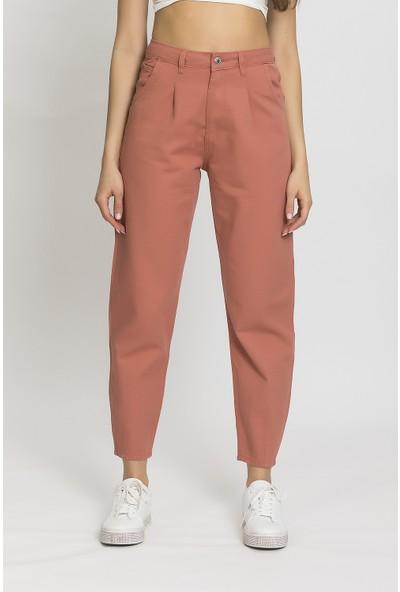 Its Basic Tarçın Renk Yüksek Bel Balon Jean
