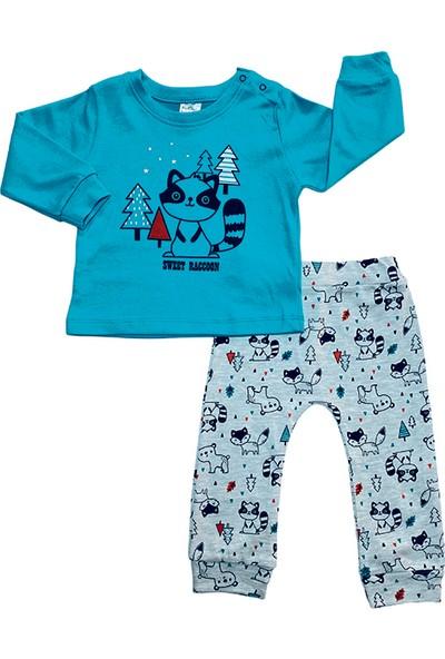 Ceco Baby By Ceco Baby Kids Baskılı Pijama Takım Mavi