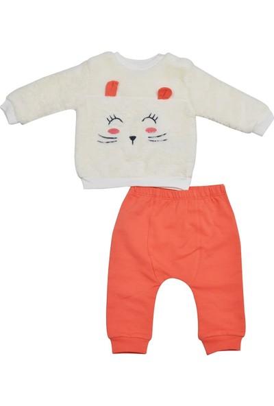 Pierre Cardin Peluşlu Bebek Takımı Oranj