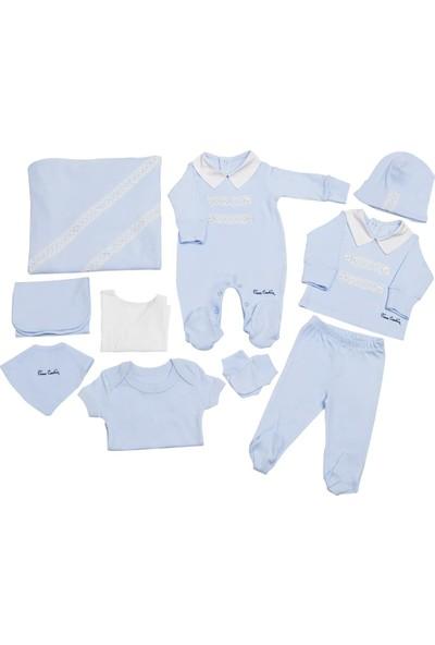 Pierre Cardin Bebek Giyim 10'Lu Hastane Çıkış Seti Yakalı Mavi