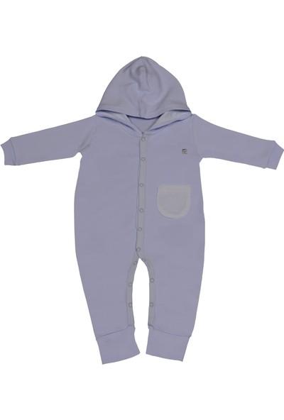 Pierre Cardin Kapüşonlu Cepli Bebek Tulumu Mavi