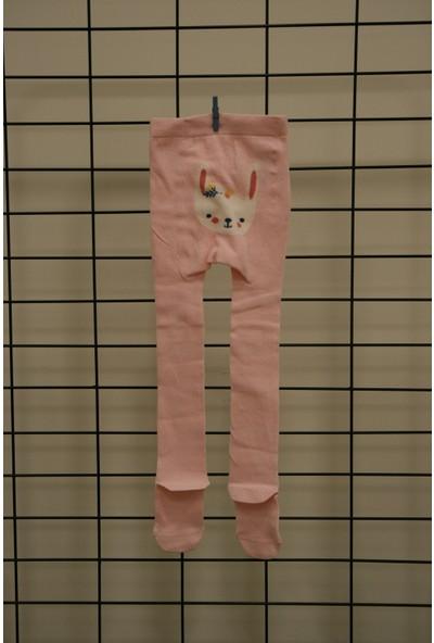Calza Bella Kız Çocuk Pembe Tavşan Külotlu Çorap