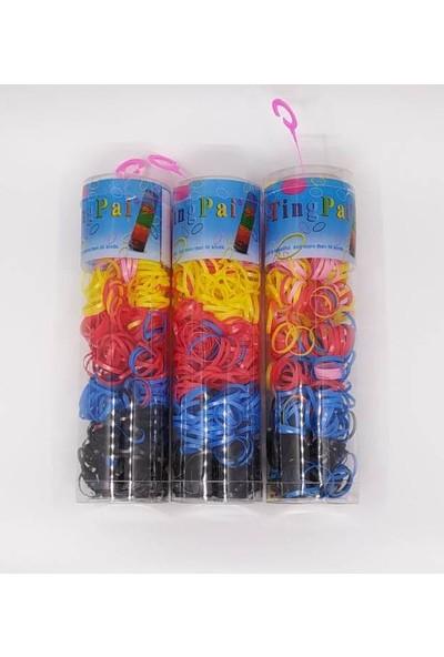 Htg Renkli İnce Lastik Toka 3 Paket Tn136