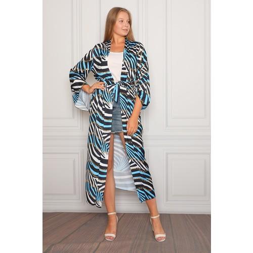 Mola Moda Mavi Zebra Desenli Pareo