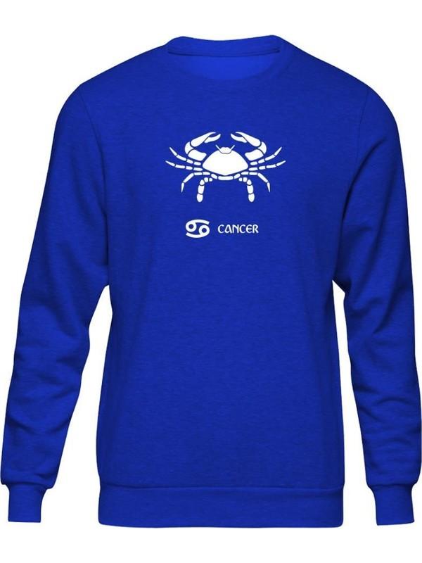 Fandomya Yengeç Burcu Mavi Sweatshirt
