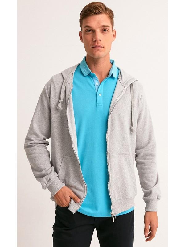 FullaModa Fermuarlı Sweatshirt