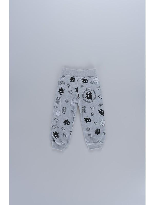 Markosin Sevimli Canavar Baskılı Erkek Çocuk Tek Alt Pantolon 5505