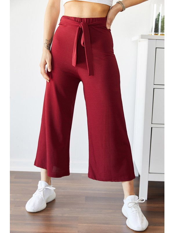 Xhan Beli Kemerli Salaş Pantolon 9KXK5-43306-05