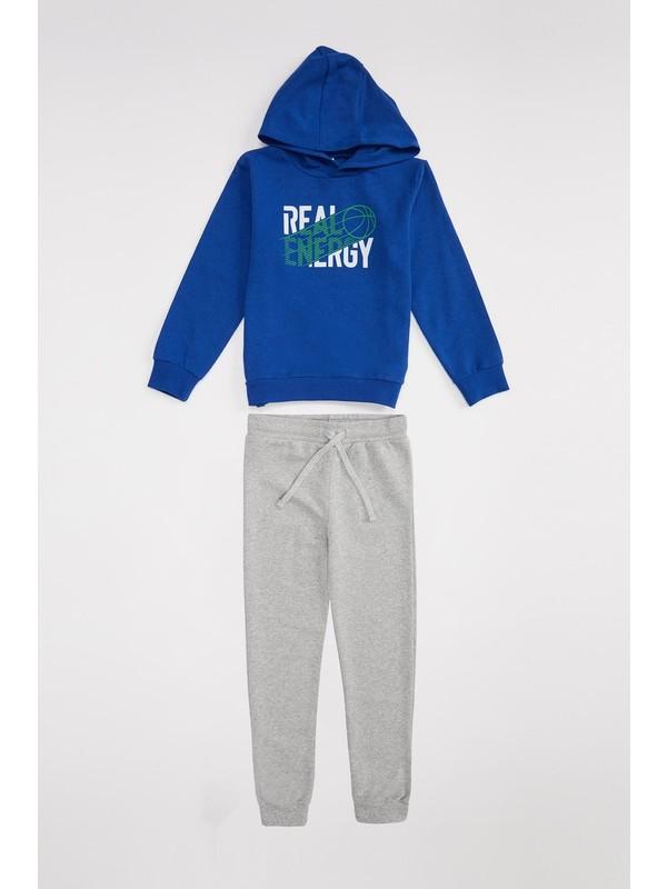 Defacto Erkek Çocuk Kapüşonlu Sweatshirt Ve Eşofman Altı Takım