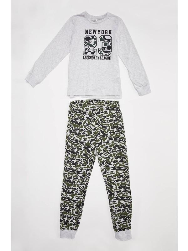 DeFacto Erkek Çocuk Baskılı Pijama Takım R9286A620AU